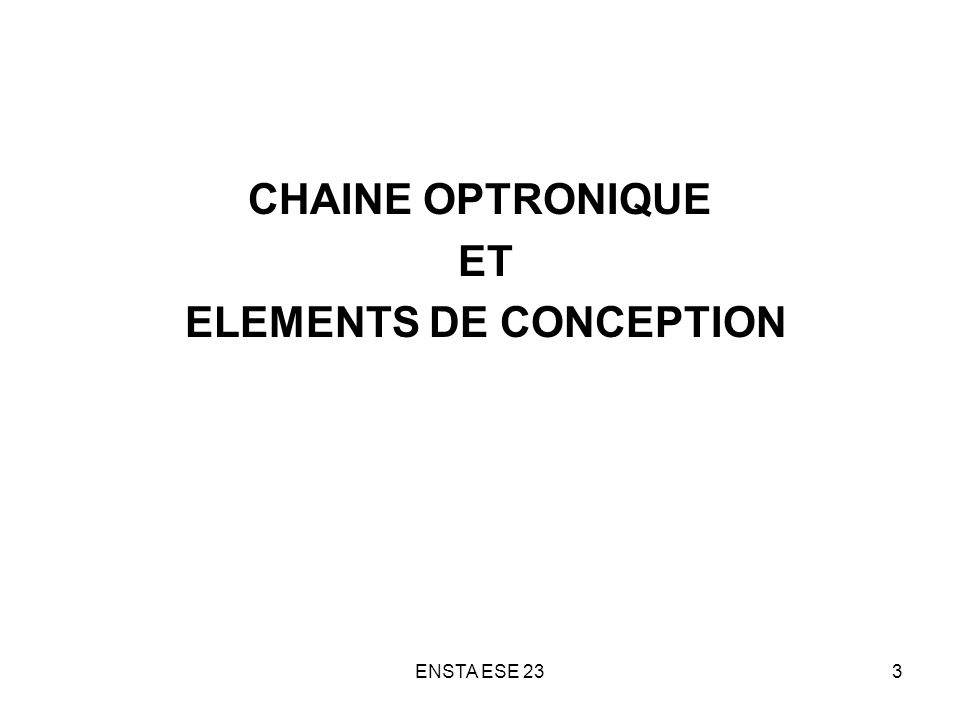 ELEMENTS DE CONCEPTION