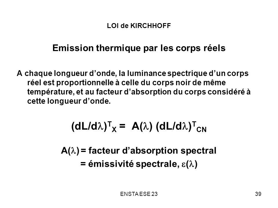 (dL/dl)TX = A(l) (dL/dl)TCN