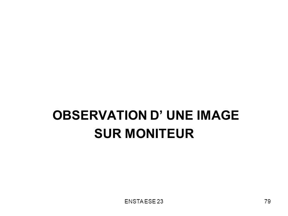 OBSERVATION D' UNE IMAGE