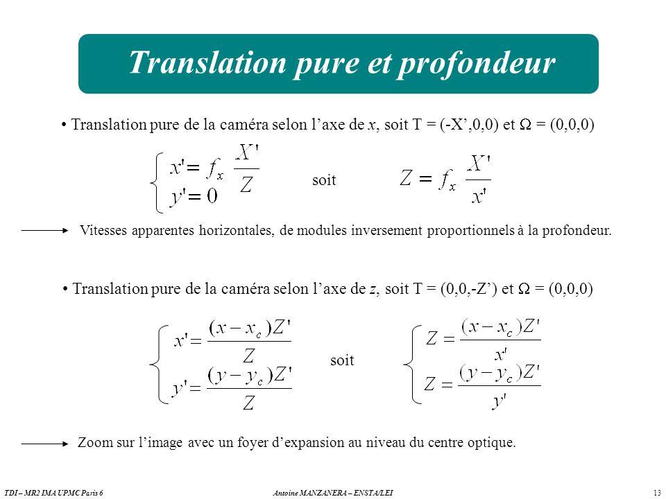 Translation pure et profondeur
