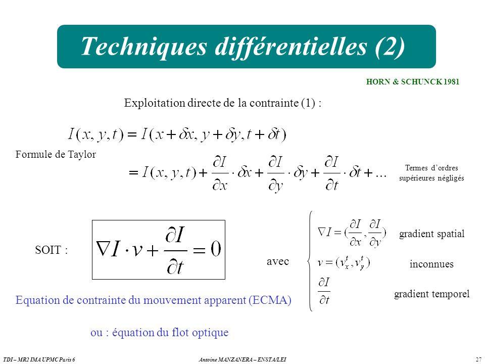 Techniques différentielles (2)