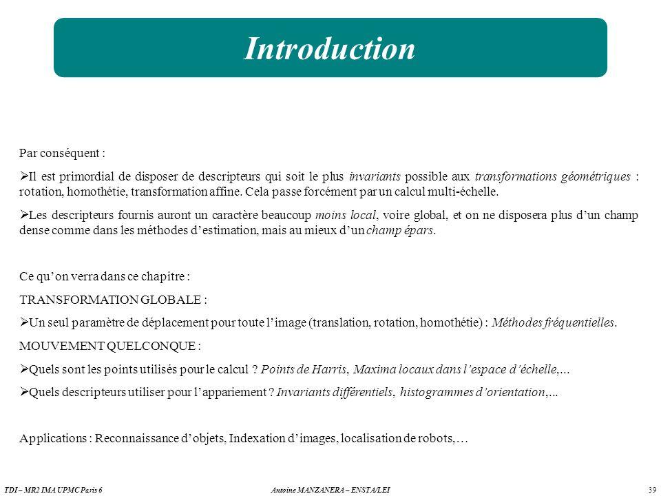 Introduction Par conséquent :