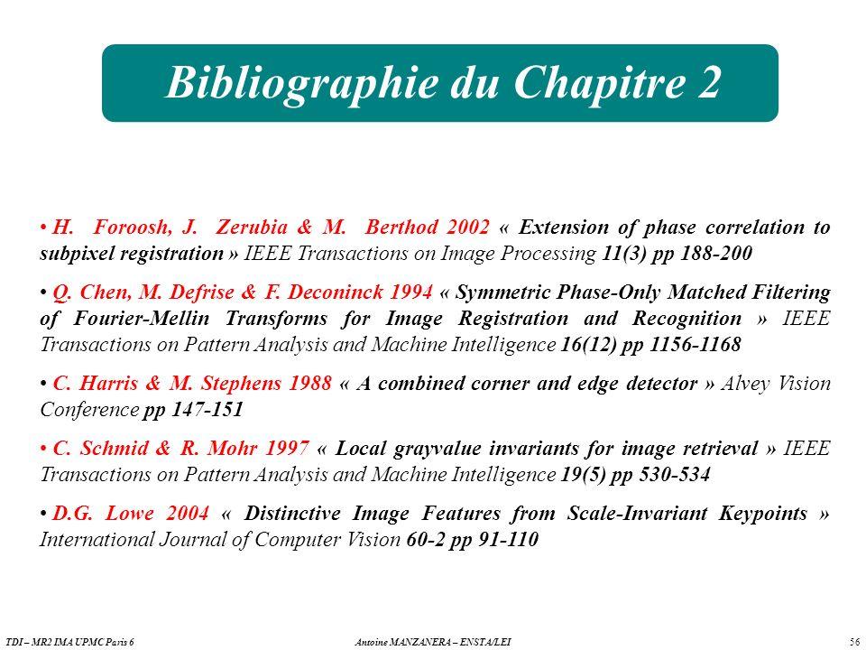 Bibliographie du Chapitre 2