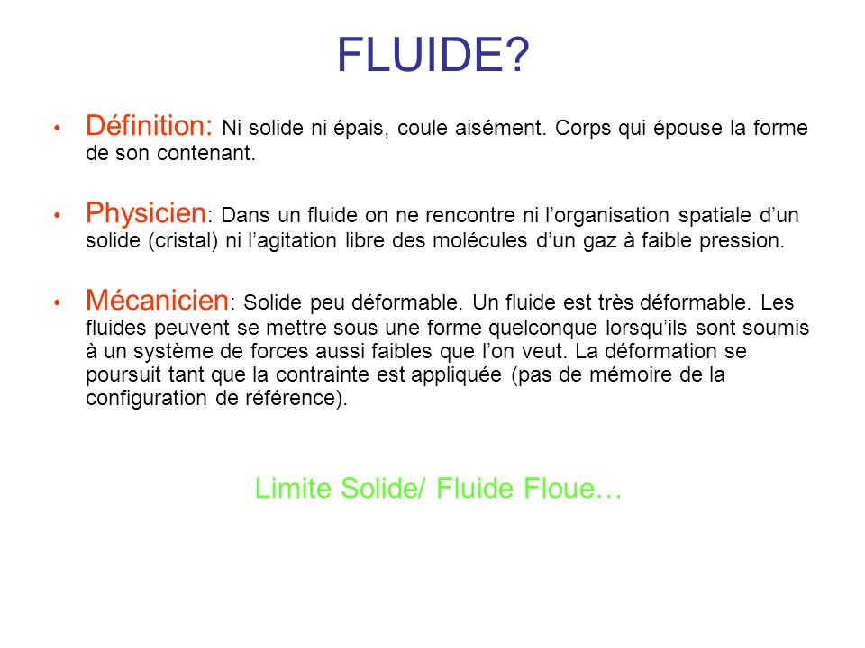 Limite Solide/ Fluide Floue…