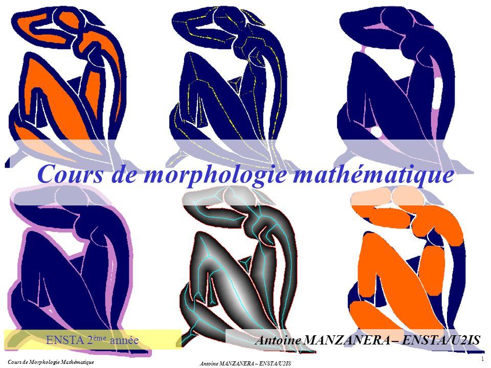 Cours de morphologie mathématique