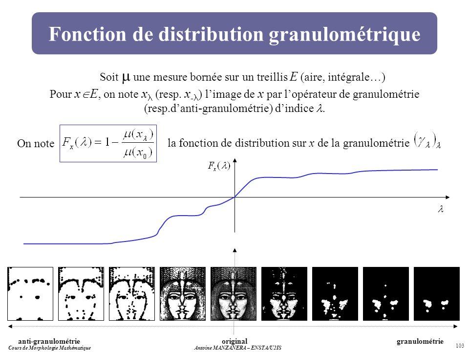 Fonction de distribution granulométrique