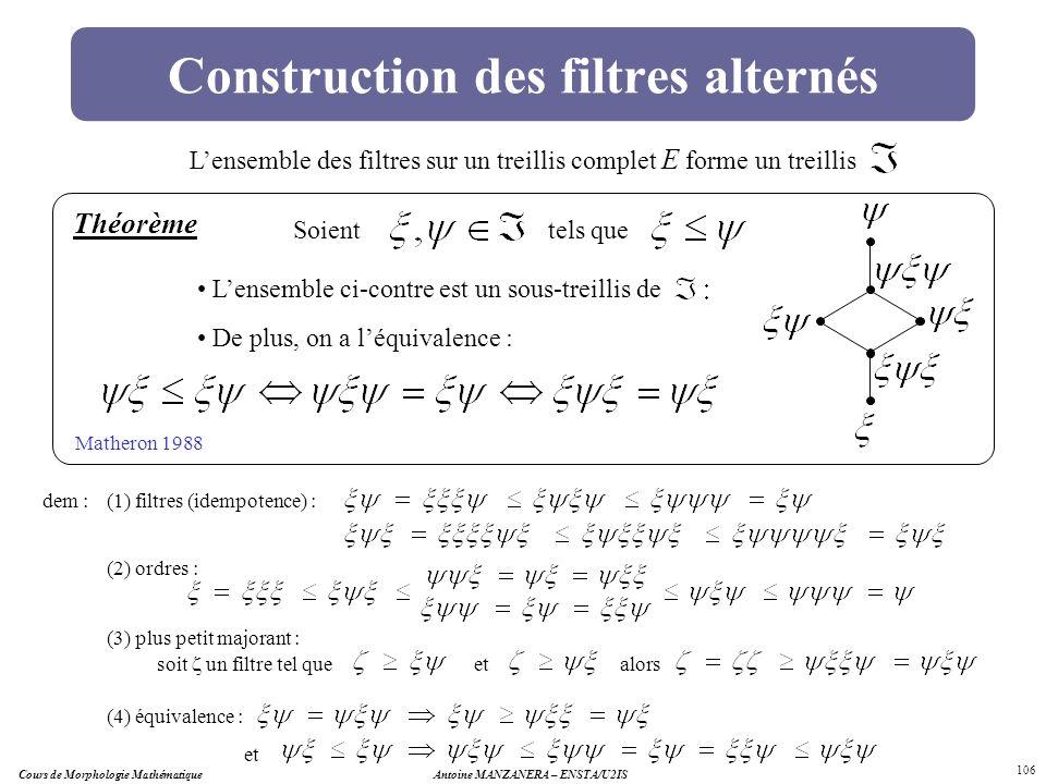 Construction des filtres alternés