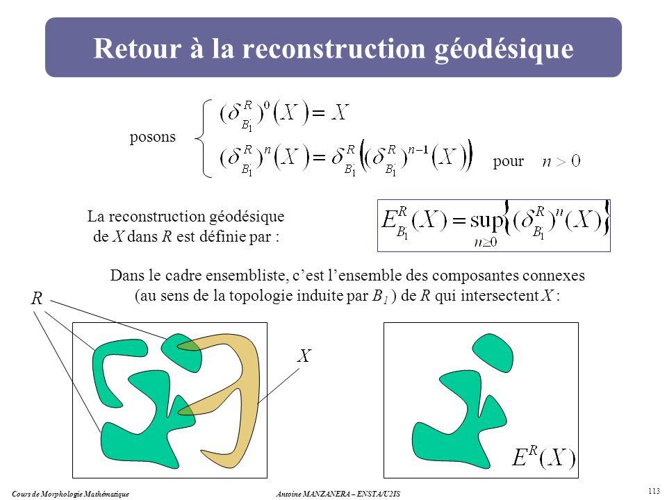 Retour à la reconstruction géodésique