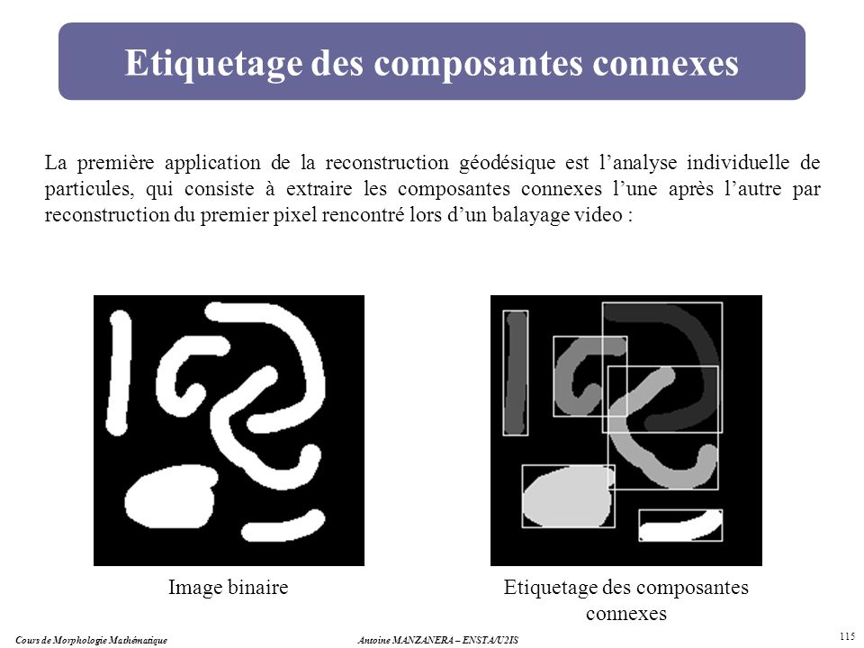 Etiquetage des composantes connexes