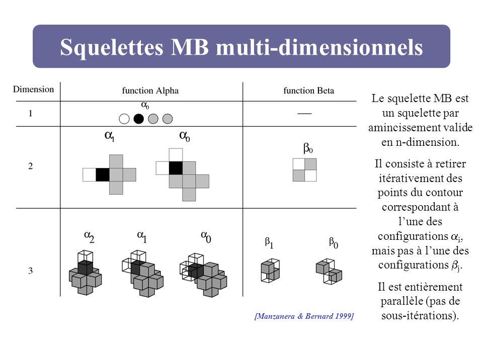 Squelettes MB multi-dimensionnels