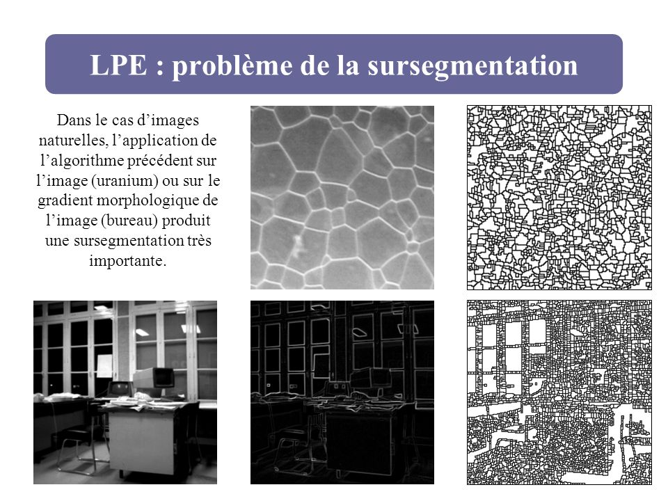 LPE : problème de la sursegmentation
