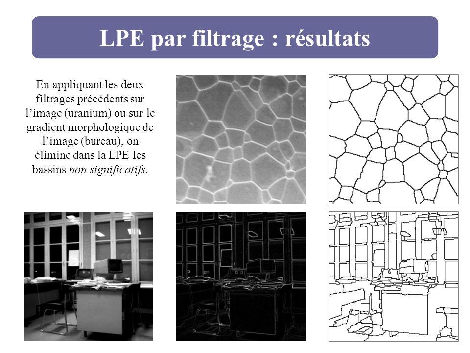 LPE par filtrage : résultats