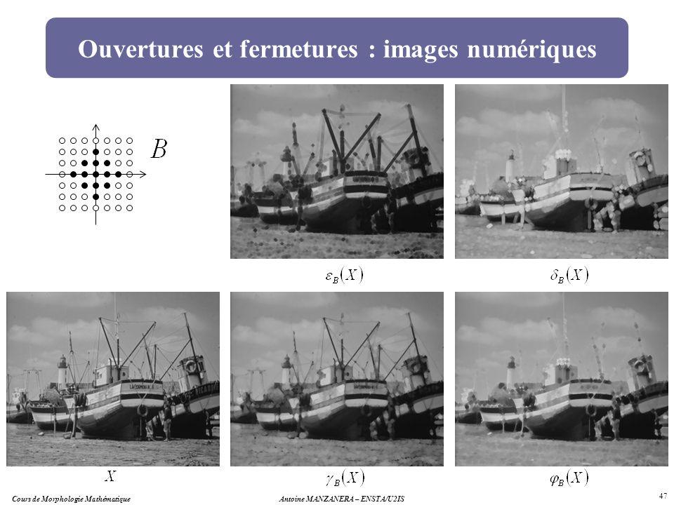 Ouvertures et fermetures : images numériques