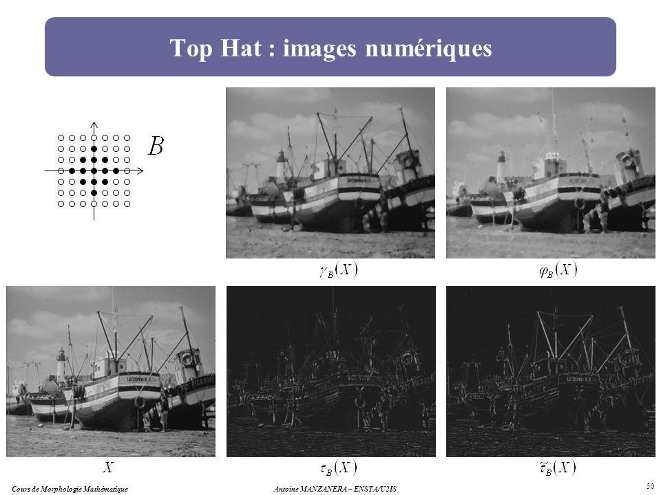 Top Hat : images numériques