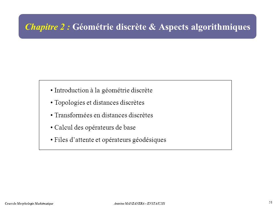 Chapitre 2 : Géométrie discrète & Aspects algorithmiques
