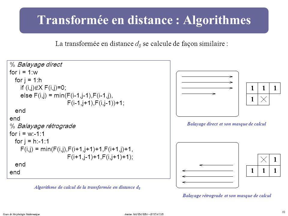 Transformée en distance : Algorithmes