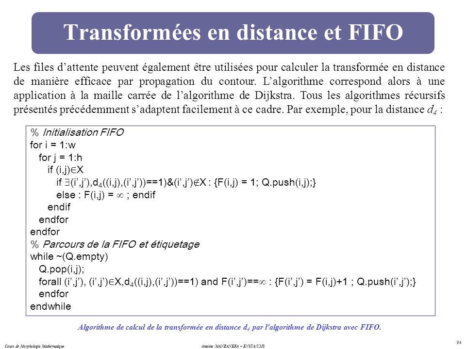 Transformées en distance et FIFO
