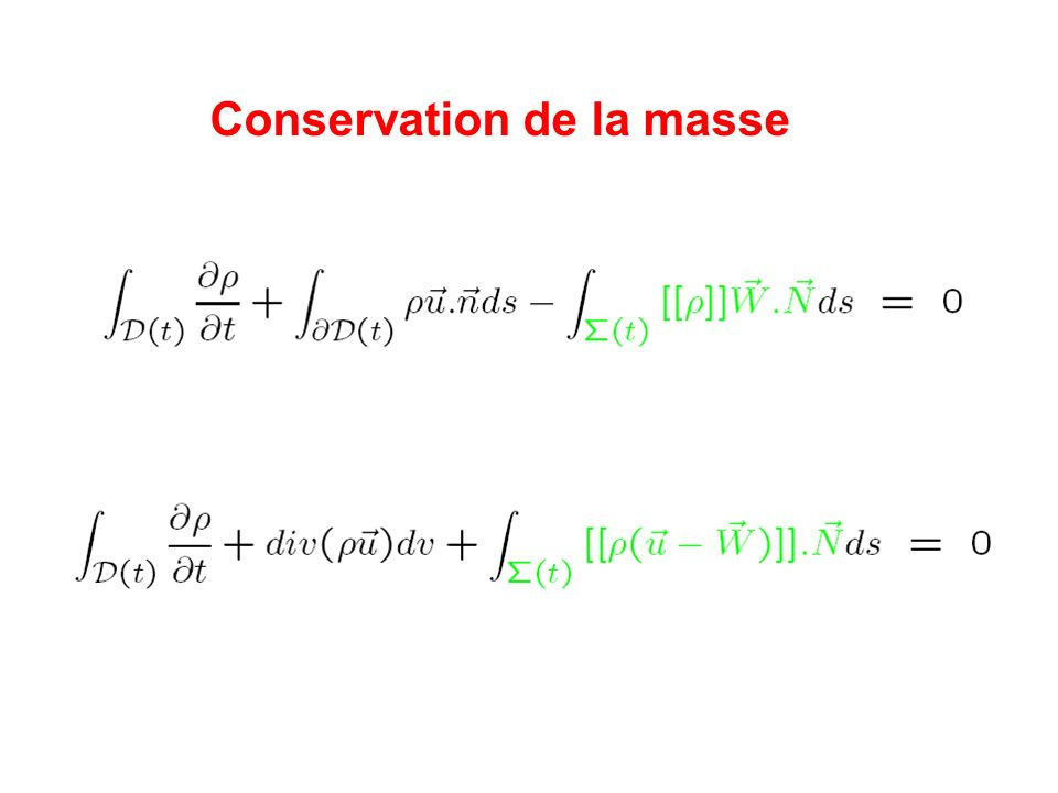 Conservation de la masse
