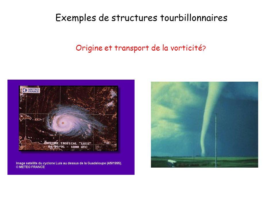 Exemples de structures tourbillonnaires