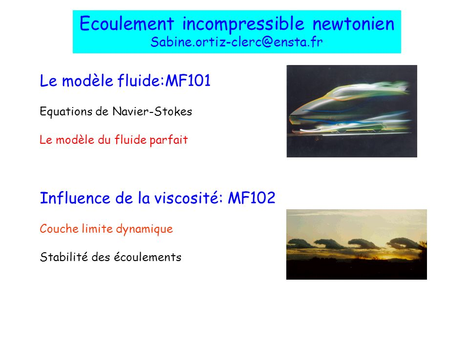 Ecoulement incompressible newtonien