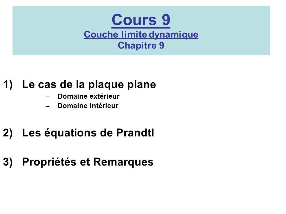 Cours 9 Couche limite dynamique Chapitre 9