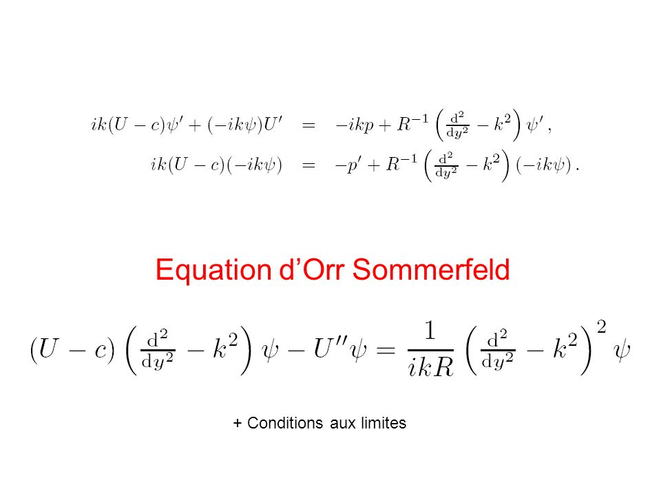 Equation d'Orr Sommerfeld