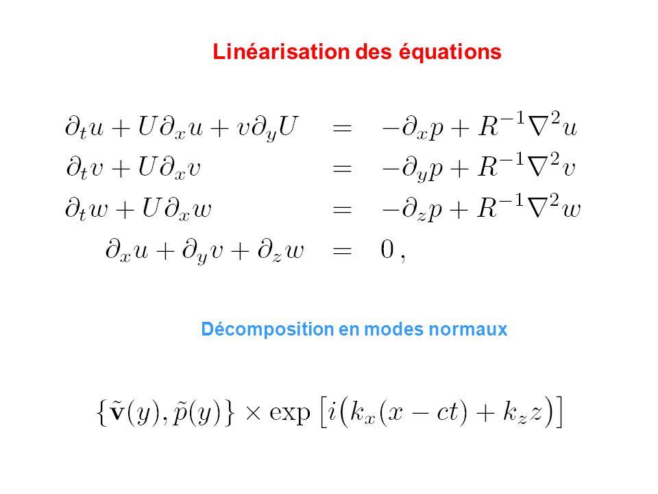 Linéarisation des équations
