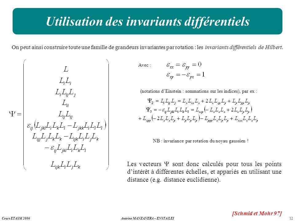 Utilisation des invariants différentiels