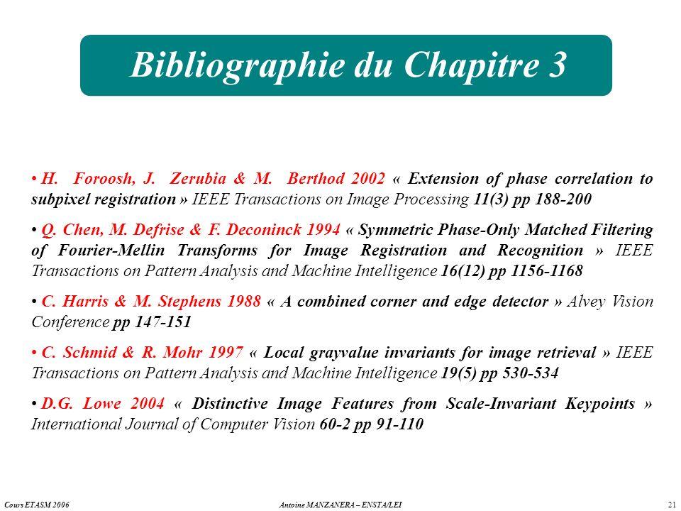 Bibliographie du Chapitre 3