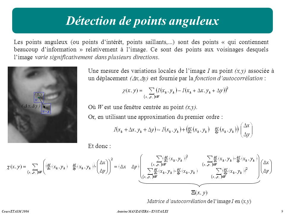 Détection de points anguleux