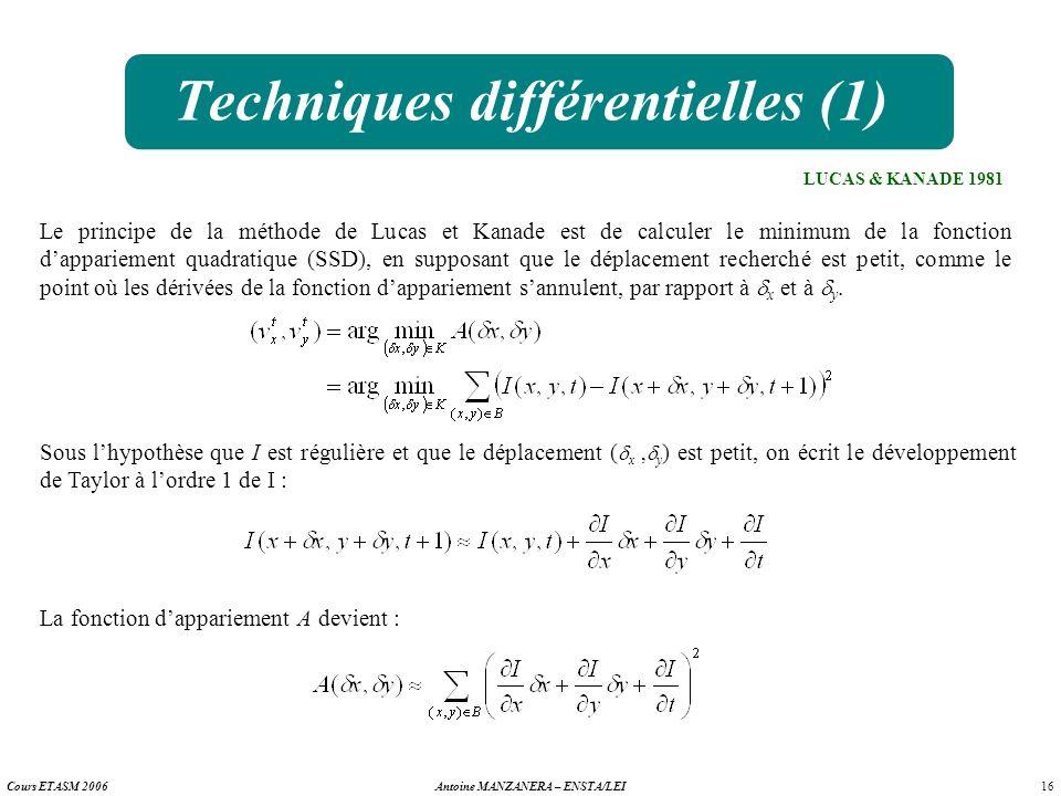 Techniques différentielles (1)