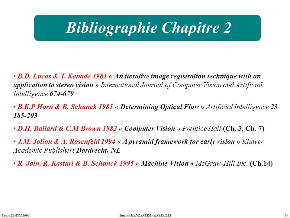 Bibliographie Chapitre 2