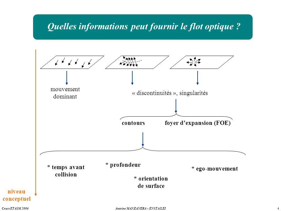 Quelles informations peut fournir le flot optique