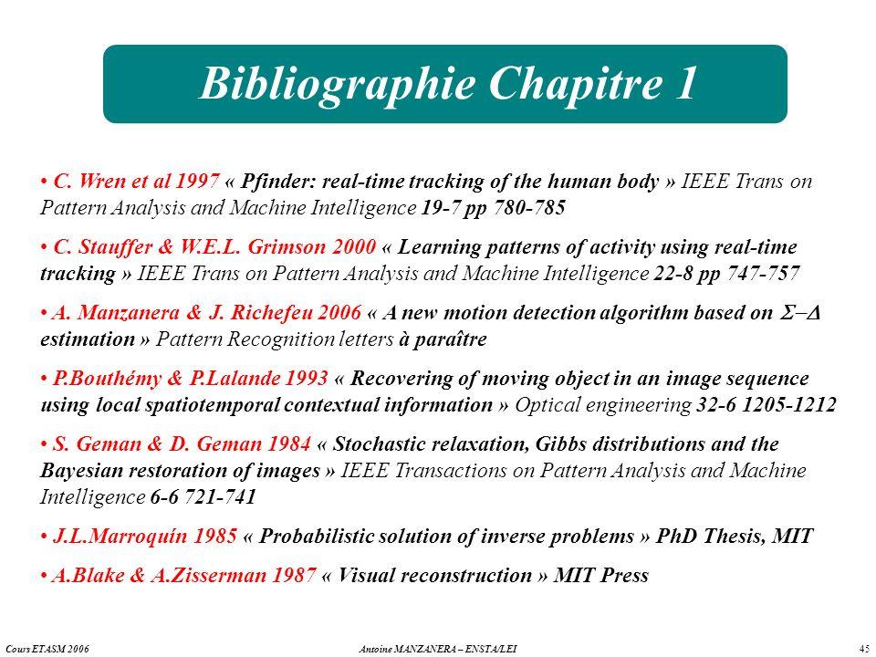 Bibliographie Chapitre 1