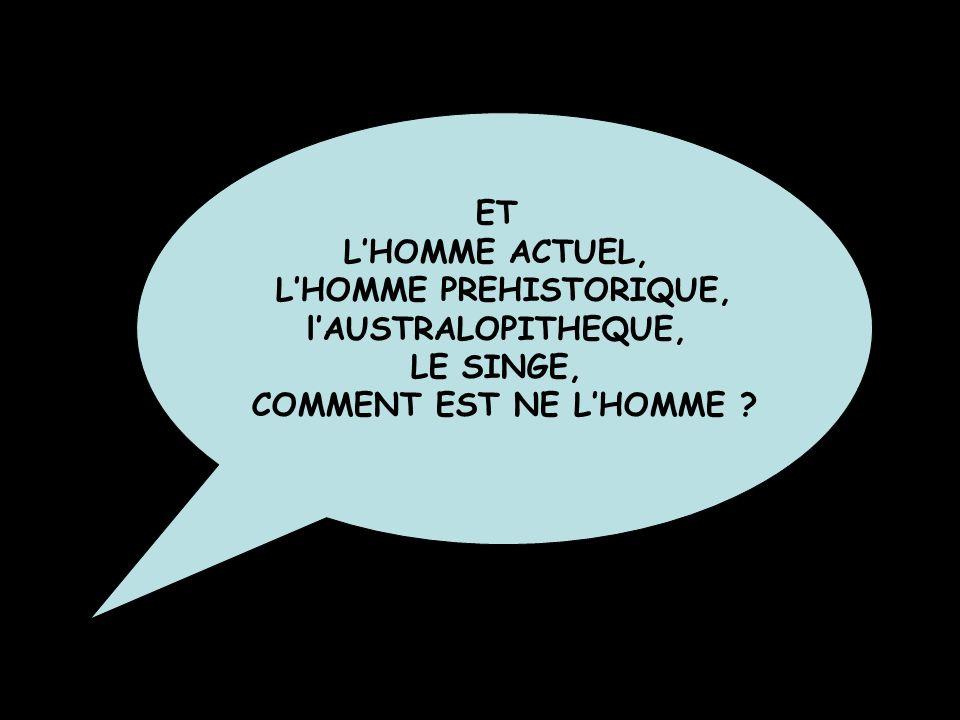 L'HOMME PREHISTORIQUE,