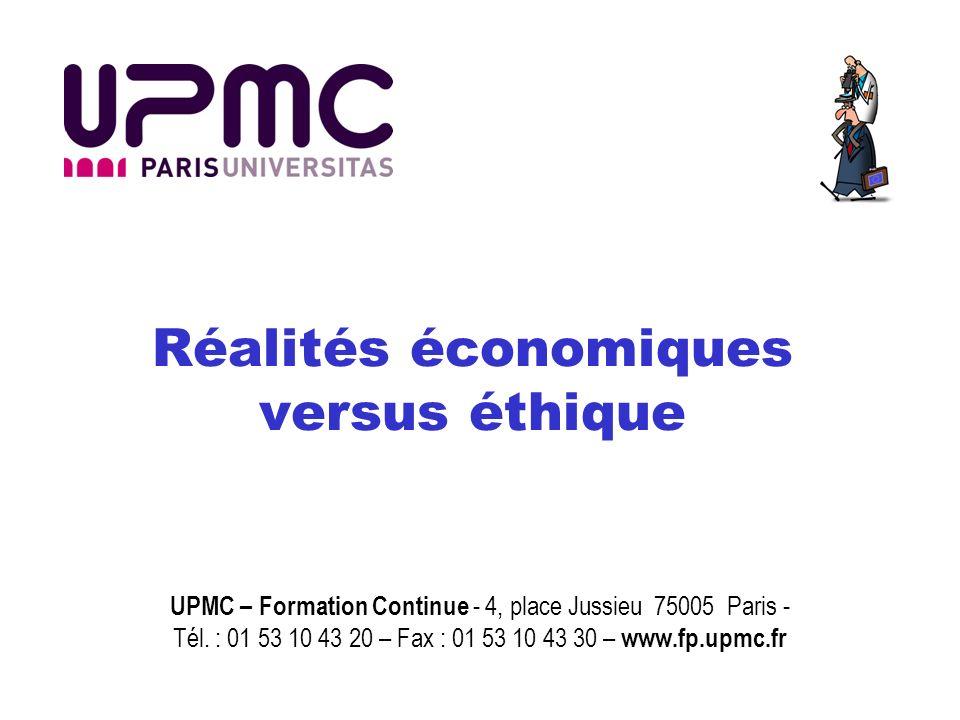 Réalités économiques versus éthique