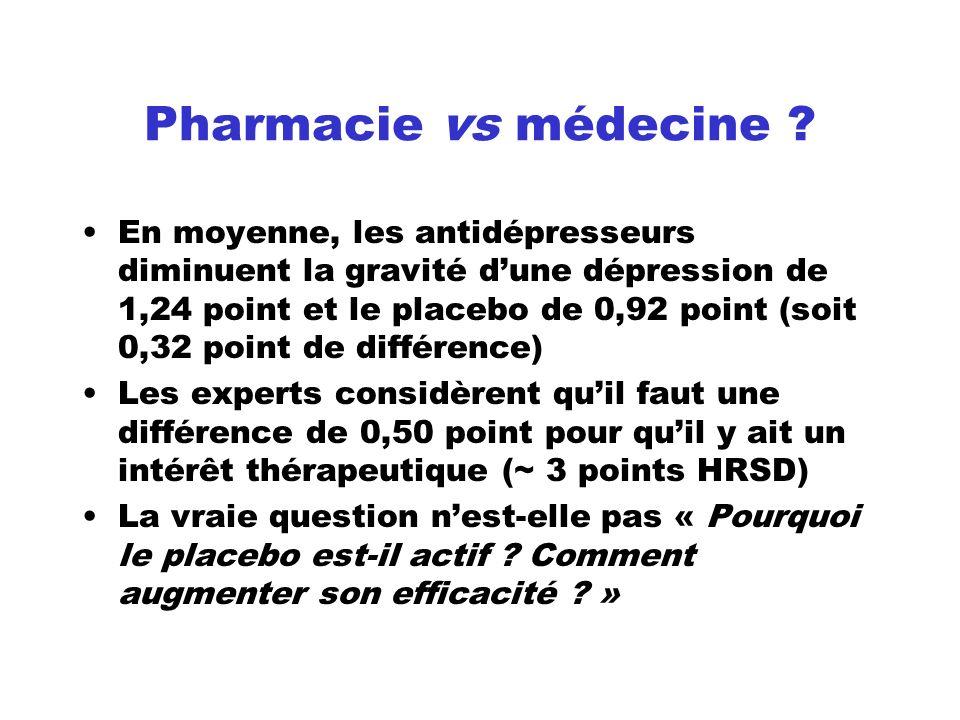 Pharmacie vs médecine
