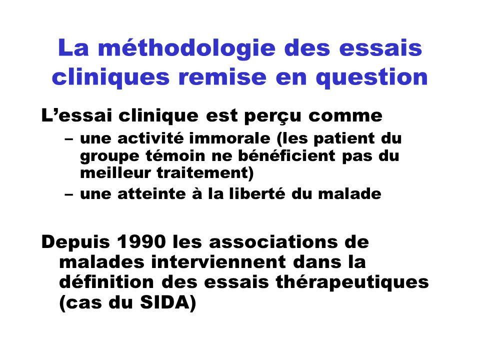 La méthodologie des essais cliniques remise en question