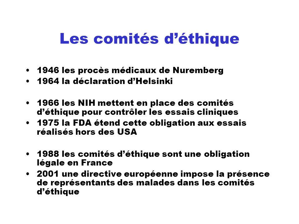 Les comités d'éthique 1946 les procès médicaux de Nuremberg