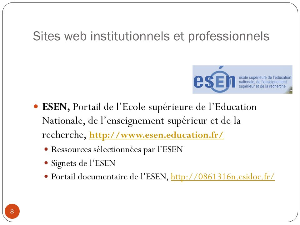Sites web institutionnels et professionnels