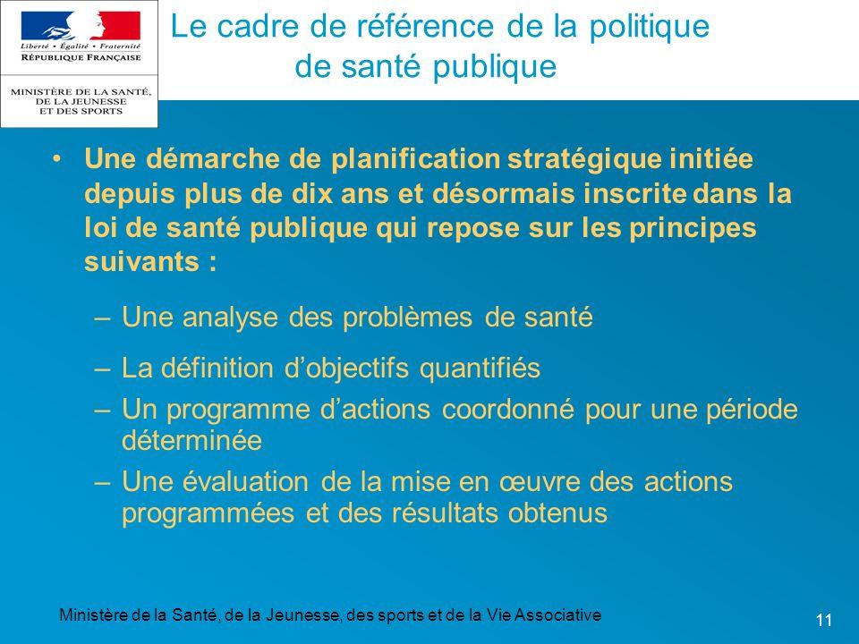 Le cadre de référence de la politique de santé publique