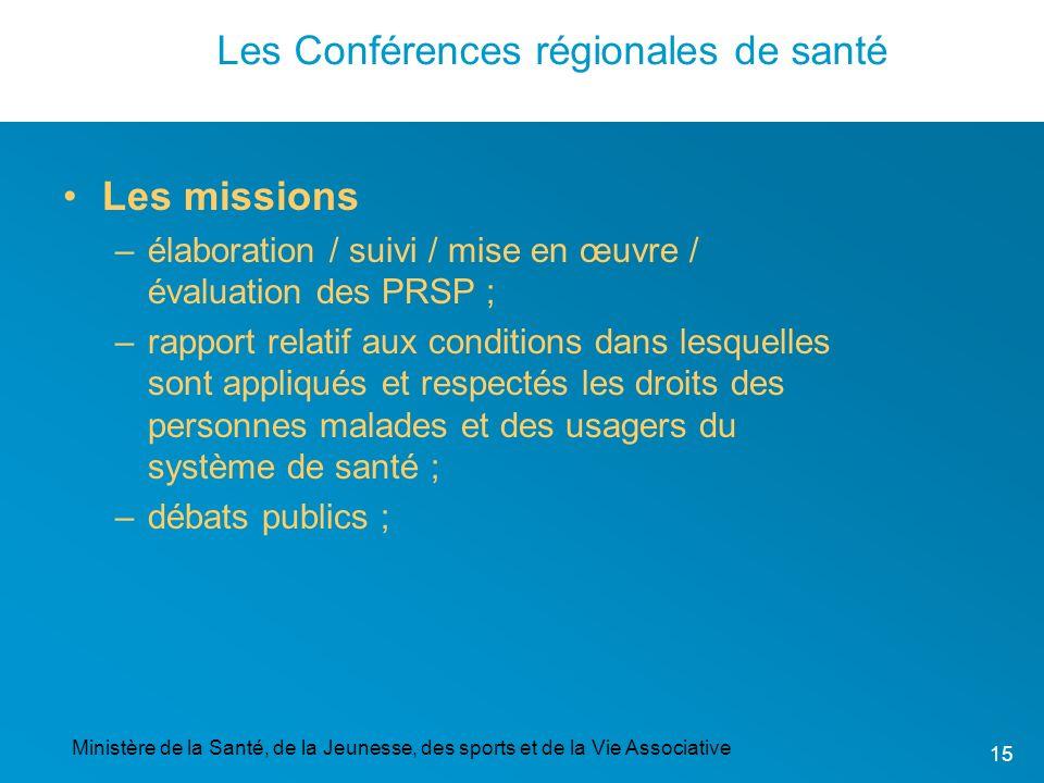 Les Conférences régionales de santé