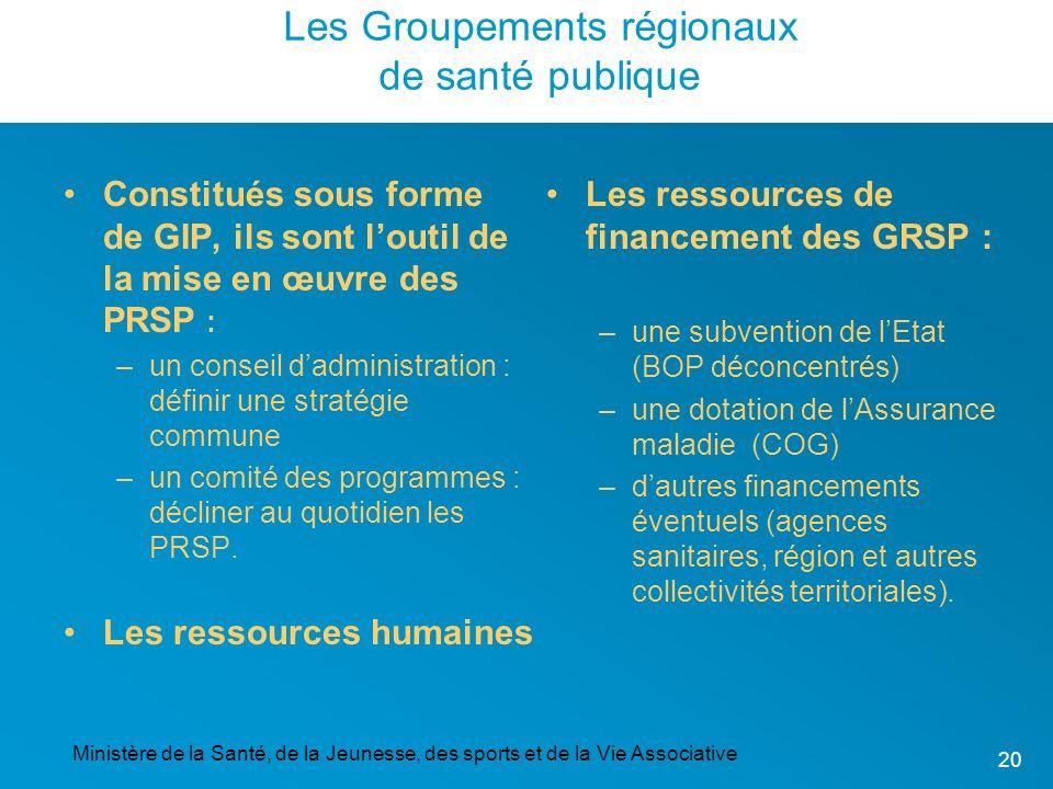 Les Groupements régionaux de santé publique