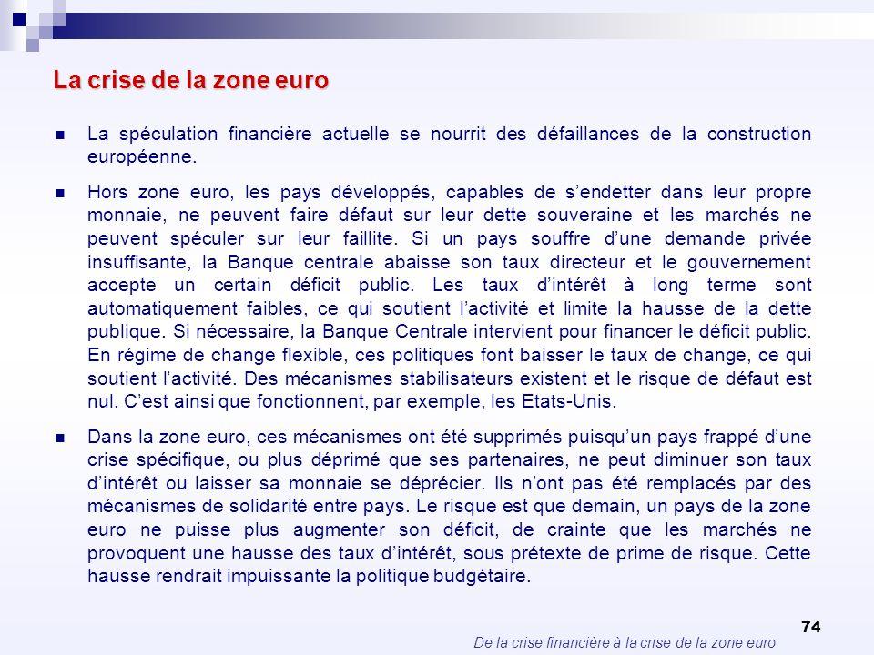 La crise de la zone euroLa spéculation financière actuelle se nourrit des défaillances de la construction européenne.