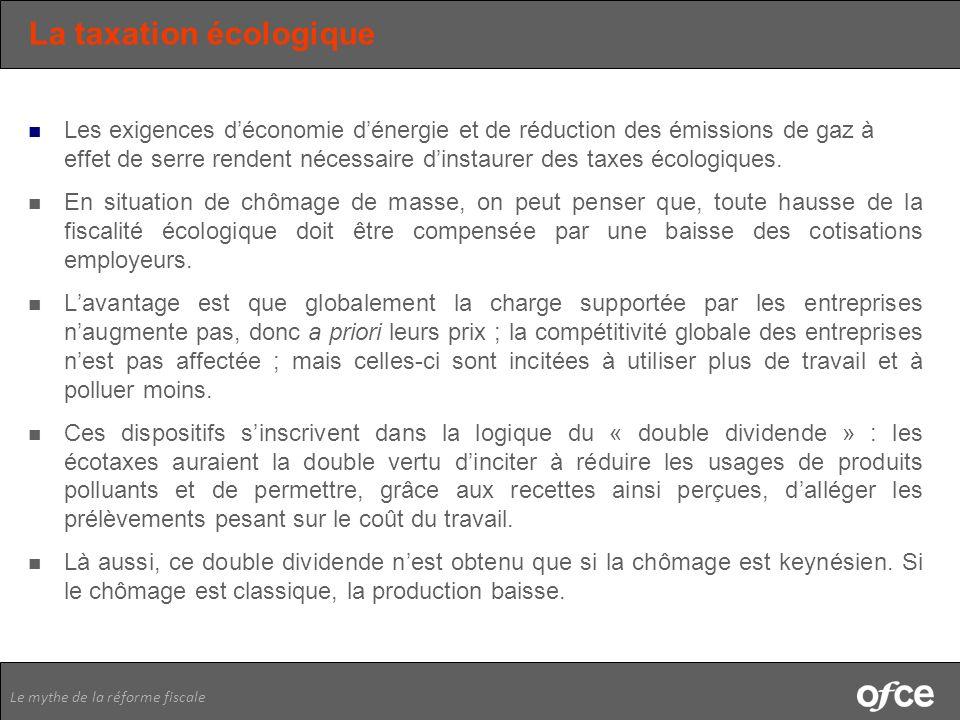 La taxation écologique