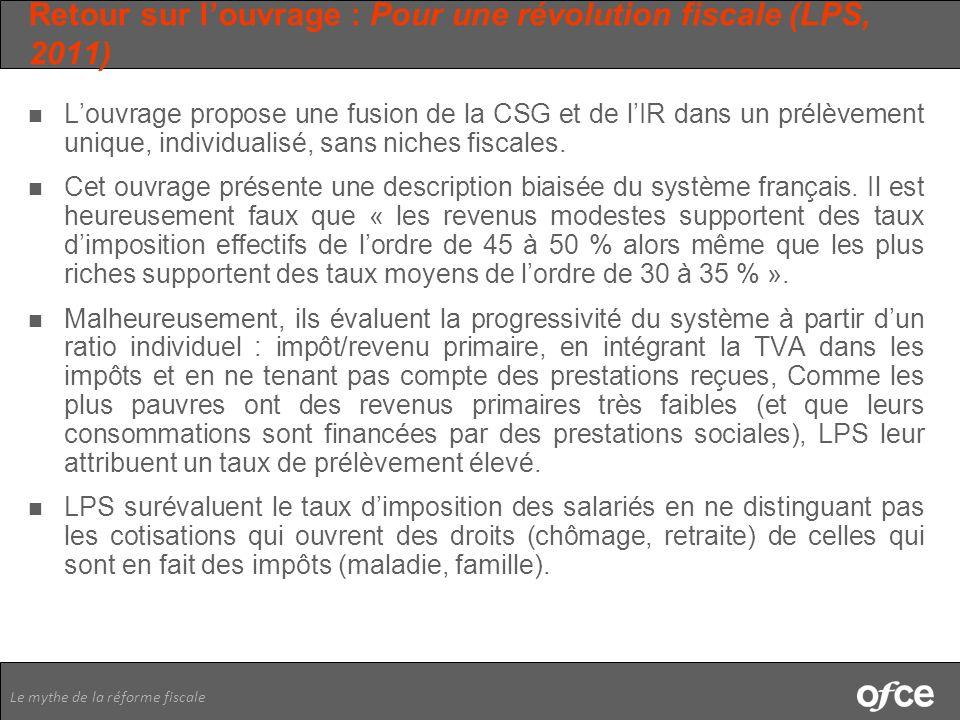 Retour sur l'ouvrage : Pour une révolution fiscale (LPS, 2011)