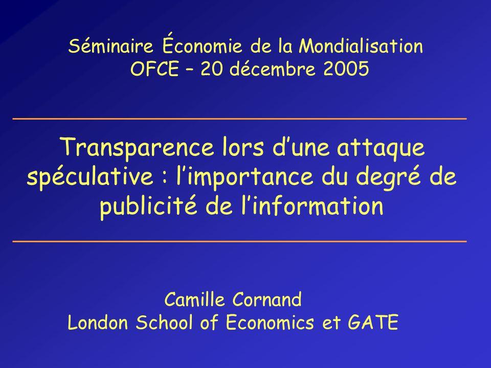 Séminaire Économie de la Mondialisation