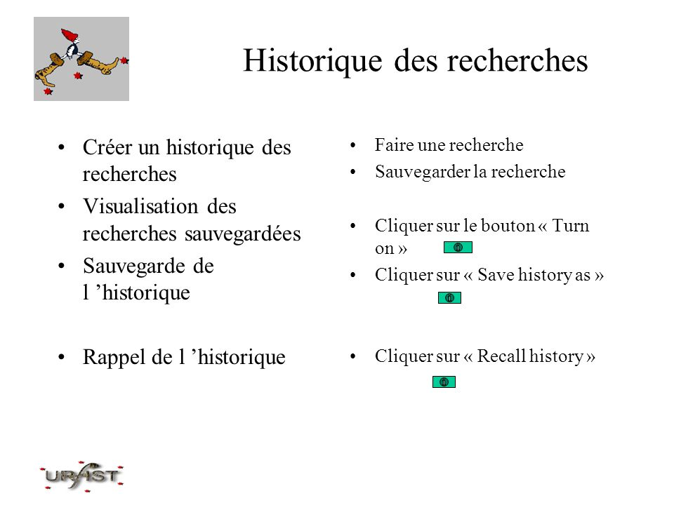 Historique des recherches