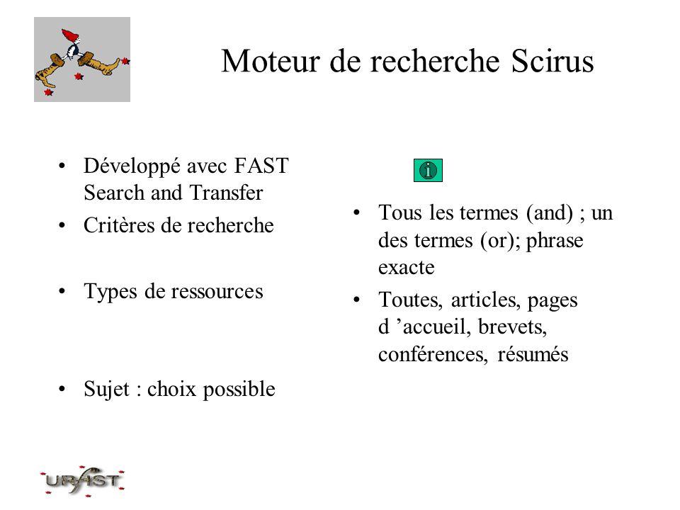 Moteur de recherche Scirus