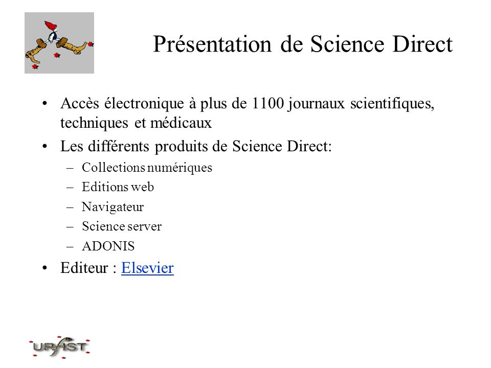Présentation de Science Direct